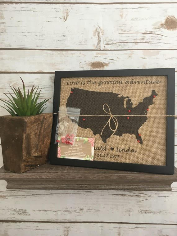 Framed push pin travel map of united states world map us like this item sciox Image collections
