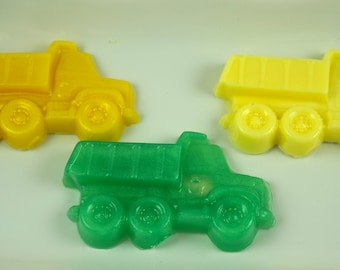 10 DUMP TRUCK SOAPS {Favors} - Road Work, Transportation, Construction Dump Truck