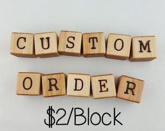 Wooden Baby Letter Blocks | Personalized Baby Gift | Custom Baby Blocks | Baby Christmas Gift