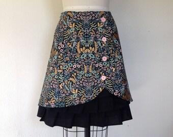 Olivia cotton ruffle front skirt Sz 6