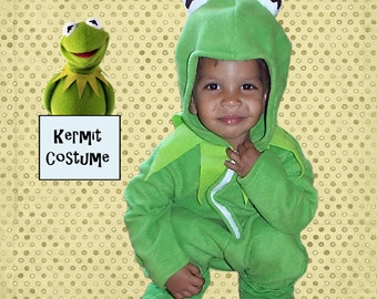 Kermit the Frog Costume for Baby Toddler Child