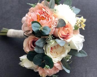 Wedding Bouquet, Flower Bouquet, Blush Bride Bouquet, Bride Bouquet, Bridal Bouquet, Bridesmaid Bouquet, Wedding flowers, Artificial Flowers