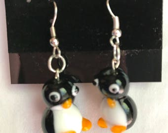 Silly Penguin Earrings