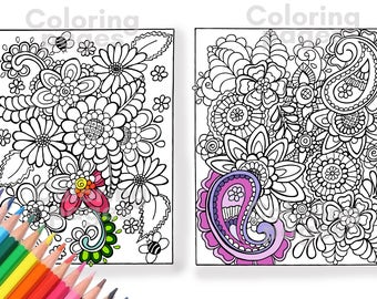 Pdf coloring pages | Etsy