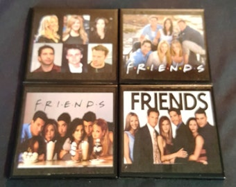 Friends Ceramic Tile Drink Coasters / Set of 4 / Friends Drink Coaster Set