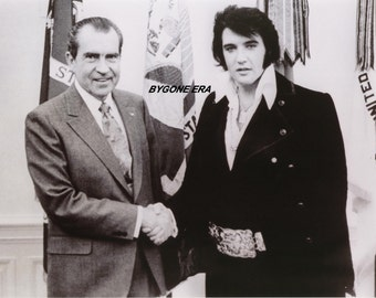 The President and The King Elvis Presley Richard Nixon White House Poster Art Photo 11x14