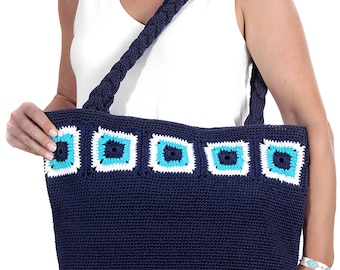 Evil Eye Crochet Handbag One of a Kind