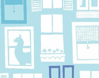 LLama Fabric | Organic Fabric | Blue | Monaluna Organic Fabric | Llamas | Alpaca Print | Cute kids clothes