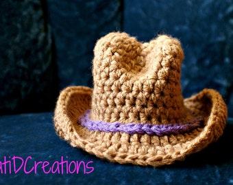 PDF, Newborn Crochet Cowboy,