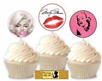Marilyn Monroe Cupcake Toppers