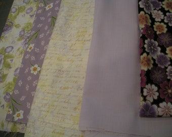 Shades of Purple and Lavender Fabric Prints