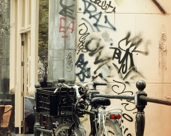 Amsterdam Street Photography, Street, Travel Photography, Bicycle Print
