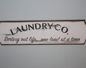 Laundry Co. sign