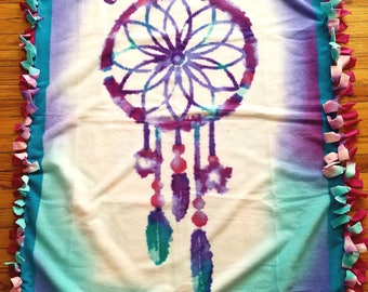 Dreamcatcher - Chase Your Dreams - Soft Fleece Throw Blanket