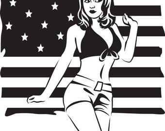 American Woman SVG FILE