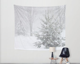 Its Snowing, Wall Tapestry, Black, White,Winter,Snow,Modern Wall Art,Home Decor, Home Accessories, Bedroom Art,Unique Design,Interior Design