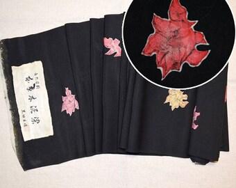 """Vintage Japanese Kimono Fabric Bolt Yardage Silk """"Floating Florals"""""""