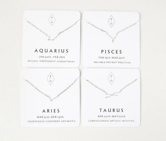 Zodiac Sign Necklace Silver