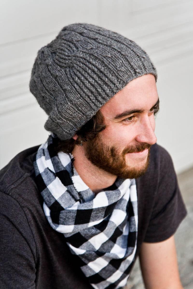 Knitting Pattern for Men\'s Hat - Bartek from Woolibear on Etsy Studio