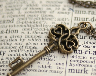 Bronze Key Necklace