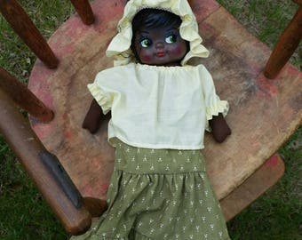 "60's African American Folk Cloth 15"" Doll"