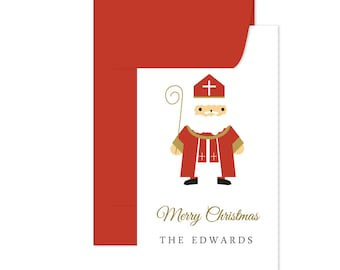 Christmas Holiday Enclosure Gift Cards, Gift Tags, Santa, Christmas Gift Enclosure Cards, Monogrammed Stationery Note Card, Holiday Cards