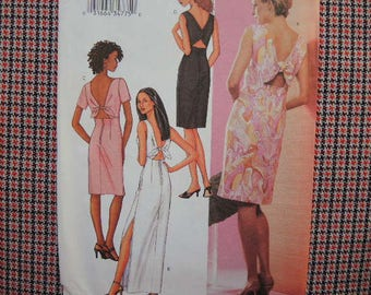 2000s sewing pattern Butterick 3447 misses fitted dress  UNCUT size 8-10-12
