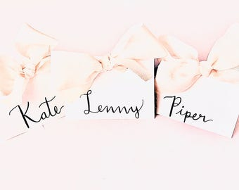 Wedding Place Cards, Calligraphy Place Cards, Wedding Calligraphy, Place Cards, Event Place Cards, Tented Place Cards, Bridal Shower