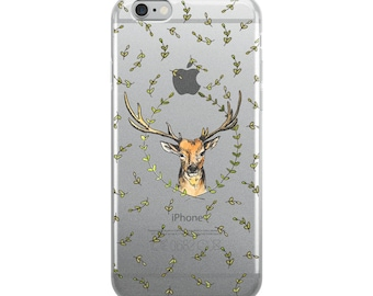 Deer Indie Nature Clear iPhone Case