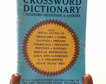 "Vintage Dell Pocketbook ""Crossword Dictionary"" 1965"