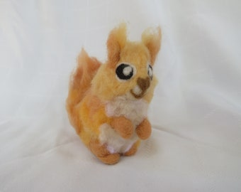 Needle Felted Animal Red Squirrel