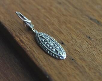 Hawley Street Antique Silver Drop Earrings