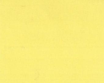 ORGANIC Cotton, MODA Solids Fabric 1 Yard Canary Yellow