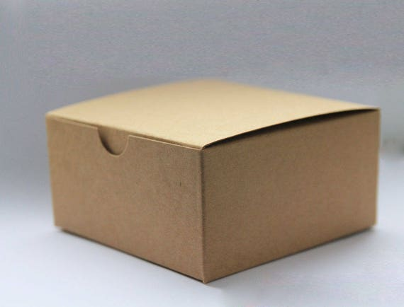 Set of 40- 5x5x3 inch Kraft Gift Boxes - Paper Boxes, Wedding Favor Boxes, Kraft Gift Boxes, Brown Box, Party Favor Boxes, Valentine Boxes