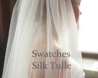 Silk tulle swatches for veils