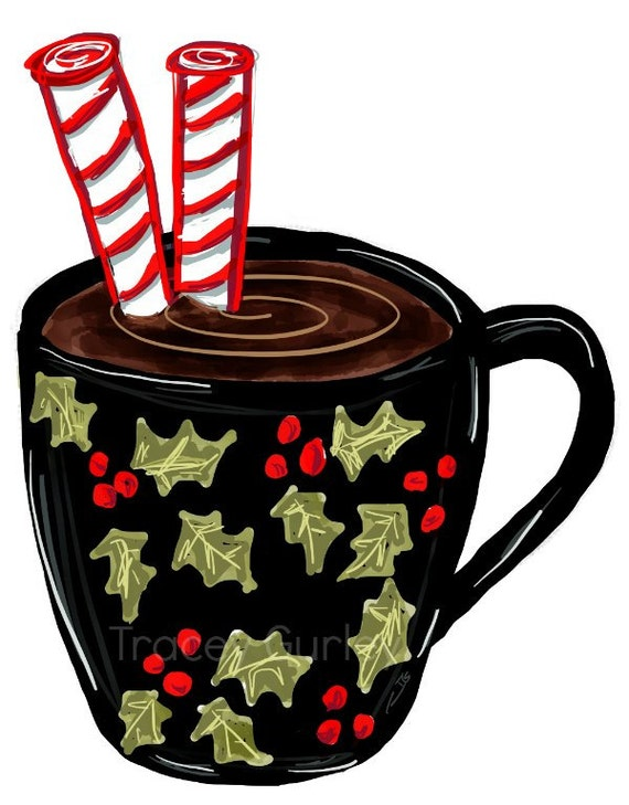hot chocolate clipart hot chocolate mug christmas crafts rh etsy com hot chocolate clipart free hot chocolate clipart vector