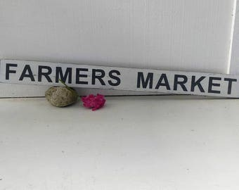 FARMERS MARKET sign // kitchen sign // farmhouse sign // distressed wood sign // home decor