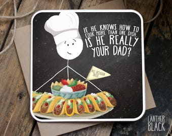Funny fathers day card / Funny dad card / Fathers day card / Dad birthday / Card for dad / Funny dad birthday / One dish / SM64