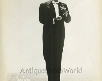 Shep Fields band leader with baton antique jazz music photo