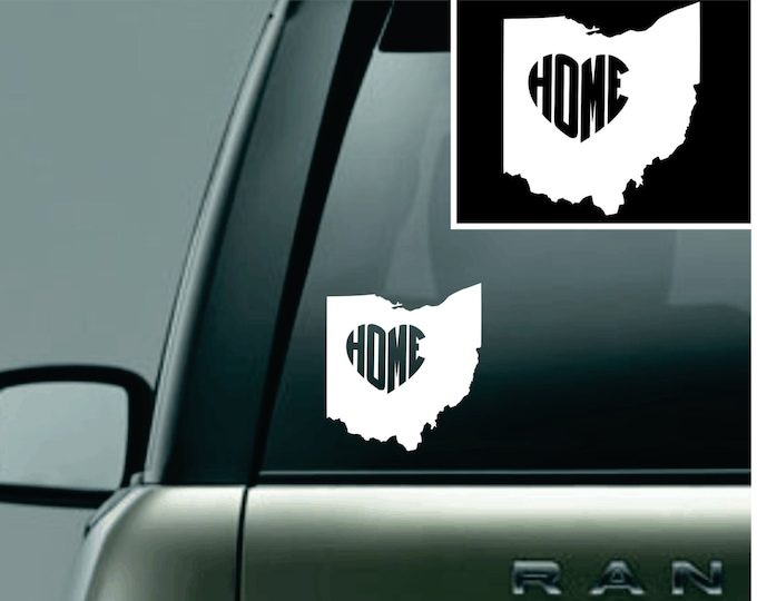 Ohio Love Your State Car Decal