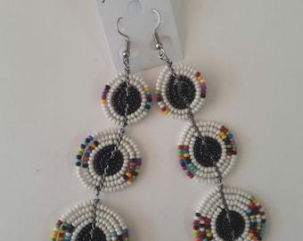 maasai earrings / beaded earrings / colourful earrings