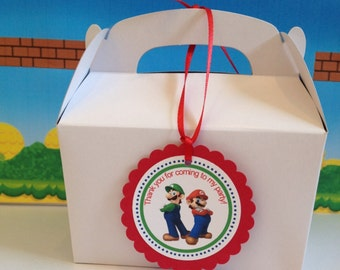 Super Mario Party Tags, Favor Tags, 12 Ready-to-Ship