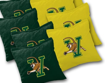 Officially Licensed Vermont Catamounts Cornhole Bags Set of 8 - Top Quality - Regulation Cornhole Bags - Bean Bags - Vermont Cornhole