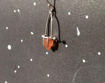 Unary Star Earrings  Sterling Silver Kinetic Jewelry