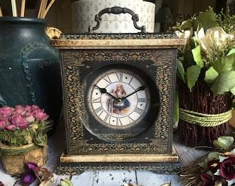 Alice in Wonderland Drink Me Clock. Alice in Wonderland Clock. Unique Clock. Victorian Clock. Alice in Wonderland Decor. Carriage Clock.