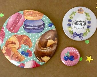 Three Piece Badge Set – Pâtisserie
