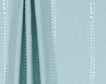Loft Blue Minimalist Stripe Fabric by the Yard Designer Cotton Home Decor Fabric Drapery Fabric Curtain Fabric or Upholstery Fabric B378