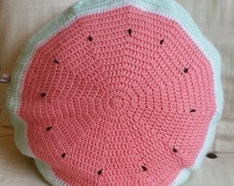 Watermelon Crochet Cushion