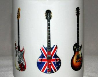 Custom Guitar Mug. 5 guitars of your own choice.