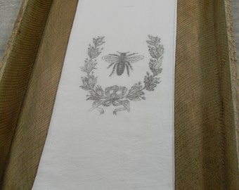 Flour Sack Tea Towels- Bee Crest